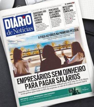 Dairio headline reporting that local business are running out of money