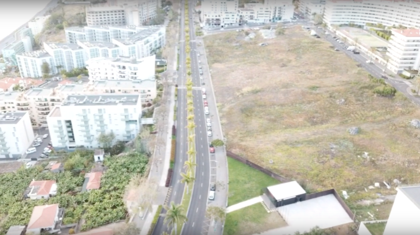 Drone footage of a quiet Funchal
