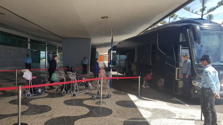Madeira Airport, which strangely saw some tourists arrive today