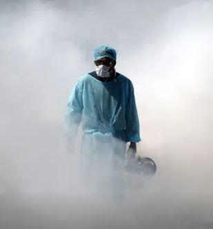 Spraying against COVID-19