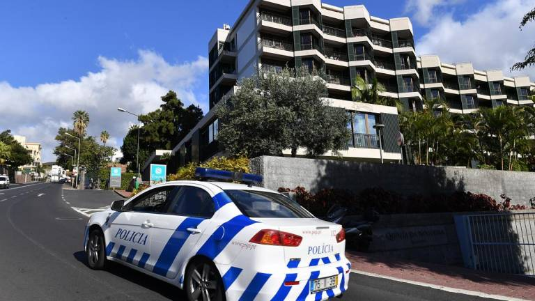 Hotel in Funchal with police car passing