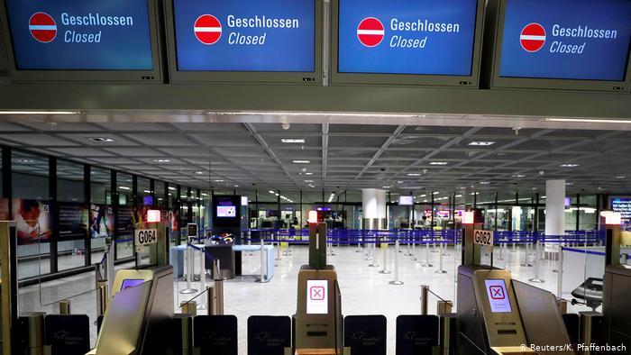 Empty German airport