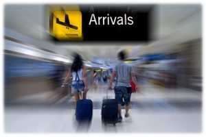 Arrivals hall graphic