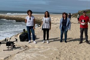 The team from UC using drones to map litter on beaches