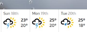 BBC weather forecast