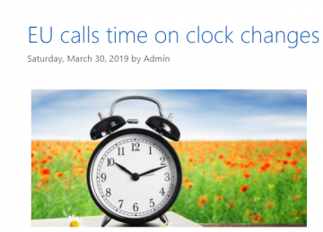 Blog from March 2019 on clock changes in the EU