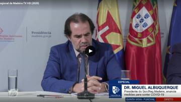 Miguel Albuquerque announcing new measures