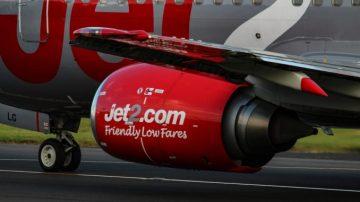 Jet2 engine with logo