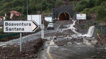 Roads closed in Ponta Delgada