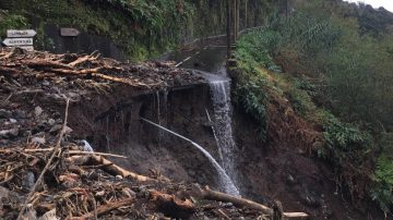 road collapse on the north coast