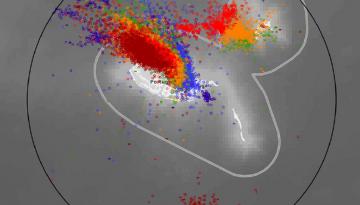 Lightning strikes mapped off Madeira