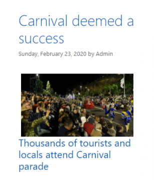 Carnival earlier this year
