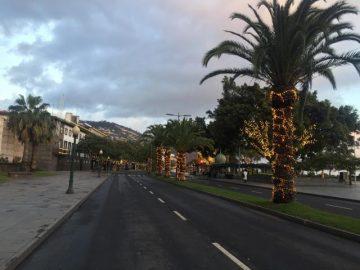 Avenida do Mar empty during curfew