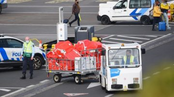 Vaccines arriving at airport