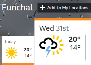 BBC weather forecast for Wednesday