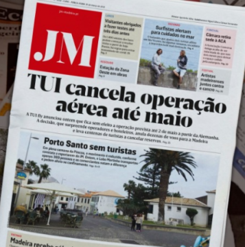 Headline that Tui has cancelled May operations