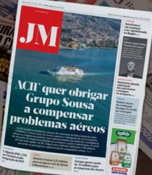 JM front page reporting on calls for a faster ferry