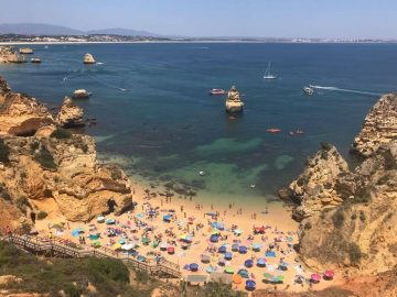 Algarve beach - arrivals from the UK no longer have to test