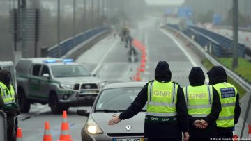 GNR stop traffic during Portugal's state of emergency