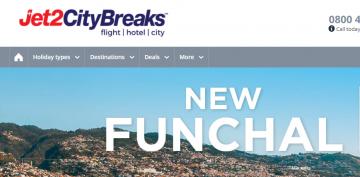 Jet2 CityBreaks promo