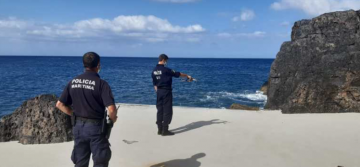 Maritime police conducting search