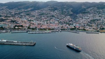 The World Voyager arriving in Funchal this morning