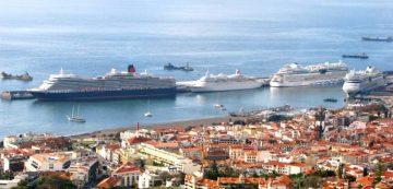 Cruise ships in Funchal bay