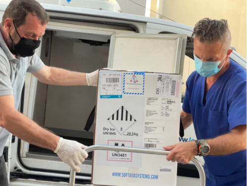Vaccines being delivered