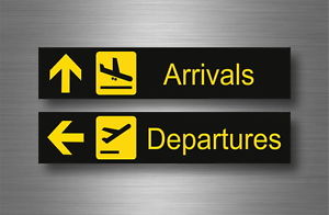 Arrivals and Departure signs denoting entering and leaving Madeira