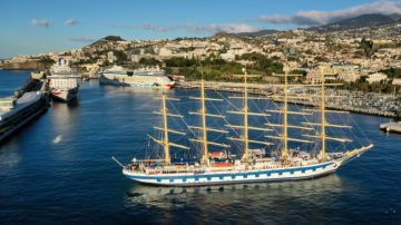 Royal Clipper arriving in Funchal
