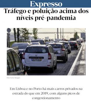 Lisbon traffic pollution