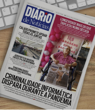 Diario front page headline about internet scams