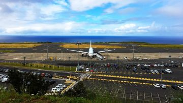 Sao Miguel airport in the Azores