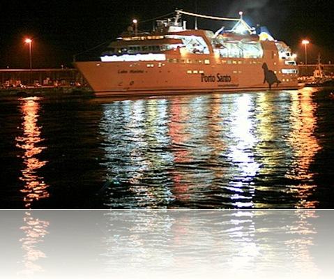 madeira news blog 0911 eiryl Porto Santo ferry just docked in Funchal