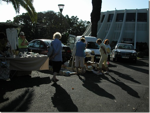 madeira news blog 1003 People looking around on sunny a day at Casino car boot sale Funchal 1