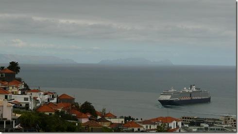 madeira news blog 1004 pete Holland America line leaving Funchal