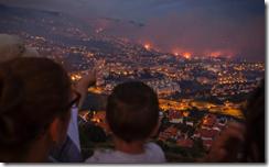 Fires burn in Funchal