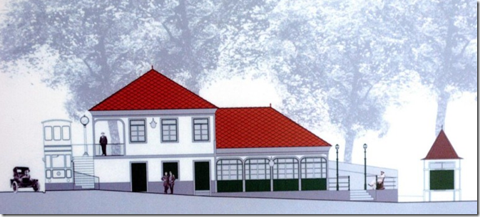 Artists impression of new Monte railway station