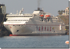 Ferry in Funchal horbour