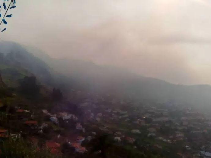 Fires above Arco da Calheta this morning