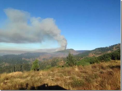 Fire in Jardim da Serra