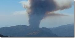 Fire above Ribeira Brava