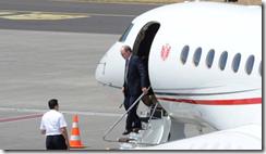 Prince Albert II of Monaco arrives in Madeira