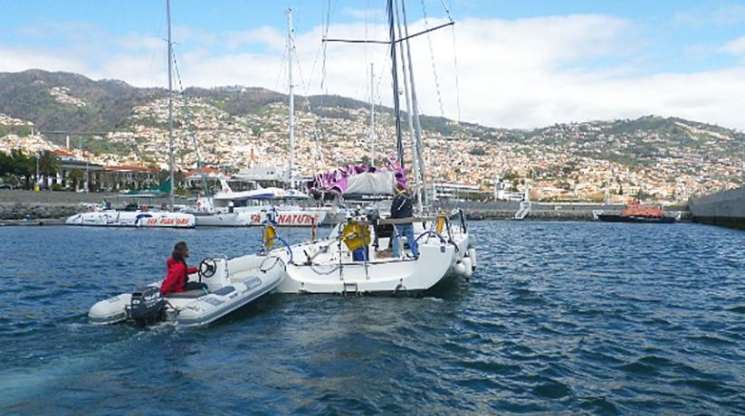 Boot recovered off Ponta São Lourenço
