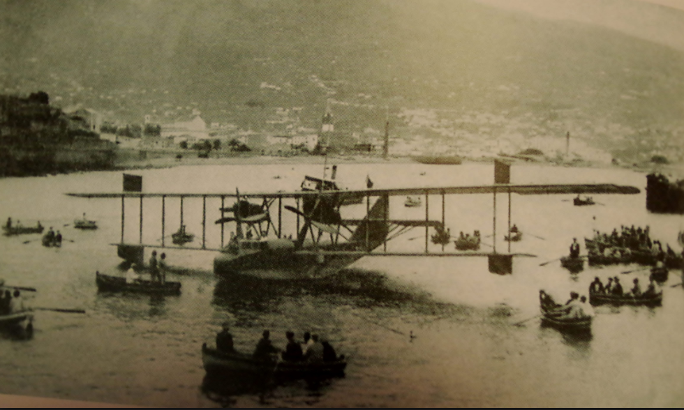 Flying boat in Funchal Bay