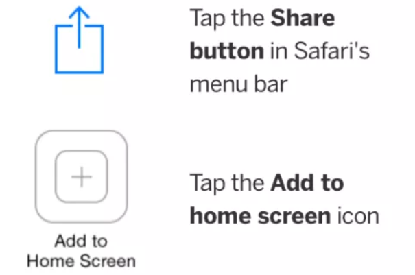 App instructions for iOS
