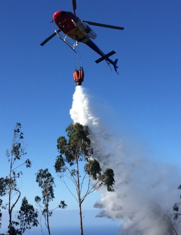 Firefighting helicopter nin action