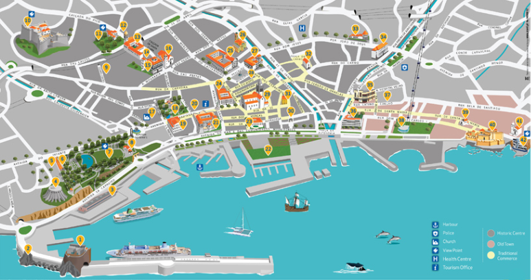 Maps: Funchal street map