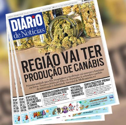 Diario front cover showing cannabis crop