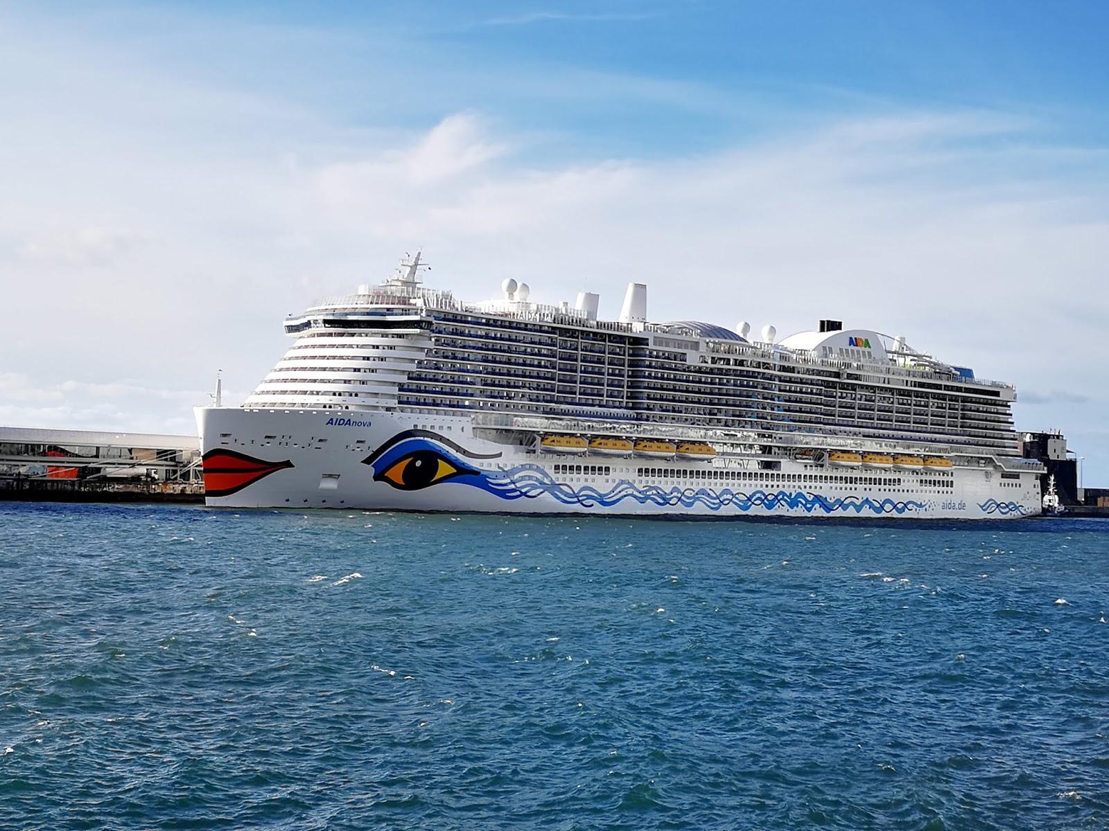 AidaNova cruise ship in Funchal port